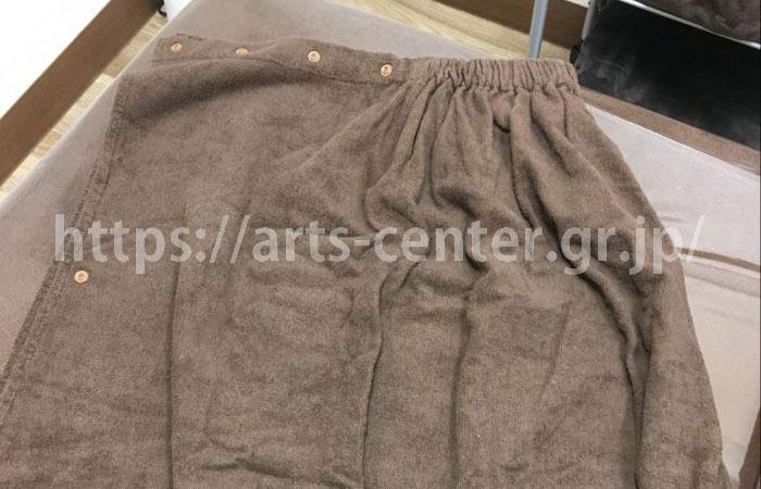 キレイモの脱毛施術の際に着るタオルガウン